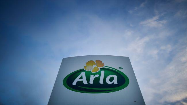 Arlas företagslogga utanför ett av mejerierna i Sverige