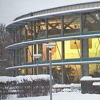 Exteriör på äventyrsbadet Aquanova i Borlänge.