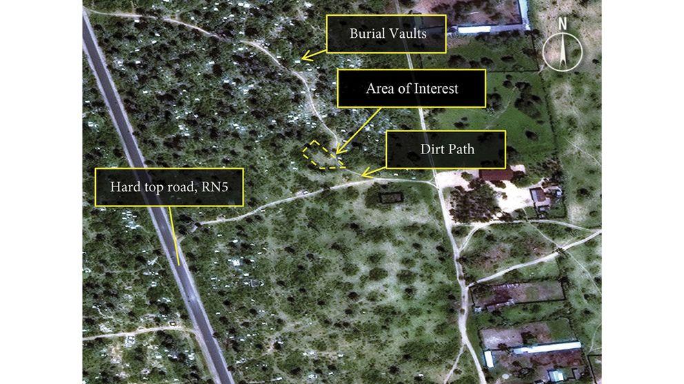 Satellitbild över Buringa tagen den 3 november.