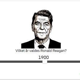 När valdes Reagan?
