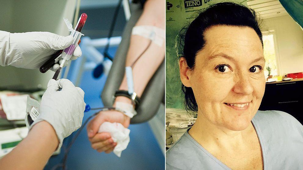 Annika Englund får inte ge blod på grund av sin MS-diagnos.
