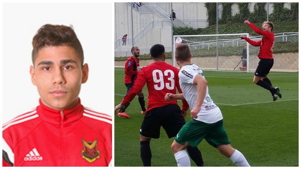 Befarad skada på Hosam Aiesh i träningsmatchen mot Hammarby