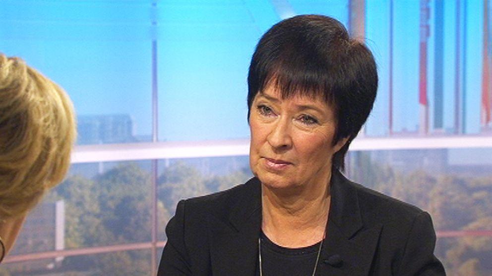 Mona Sahlin i SVT:s Gomorron Sverige.