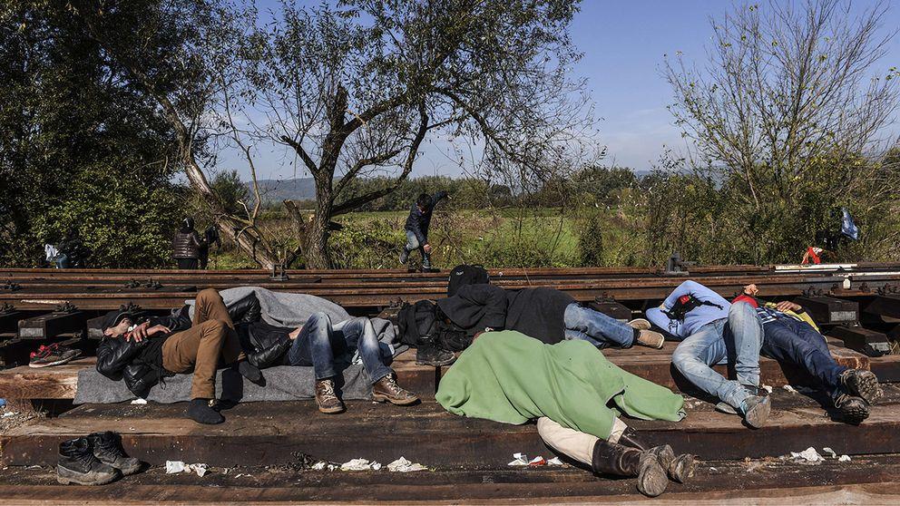 Flyktingar i Kroatien.