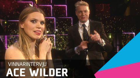 Fredrik Ekelund vinnarintervju med Ace Wilder efter Melodifestivalen 2016.