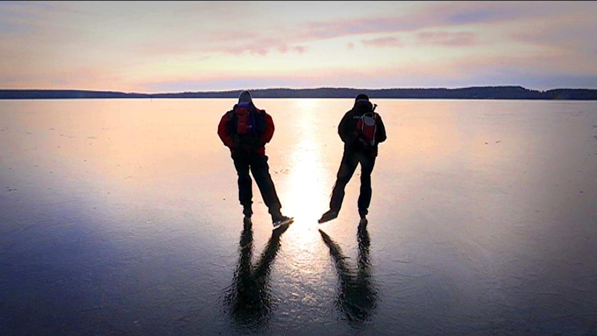 Se upp for sprickor i isen under vikingarannet