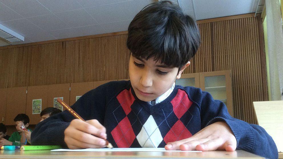 Amro Hasan Alamet kommer från Aleppo i Syrien. Han vill helst gå i en blandad klass.