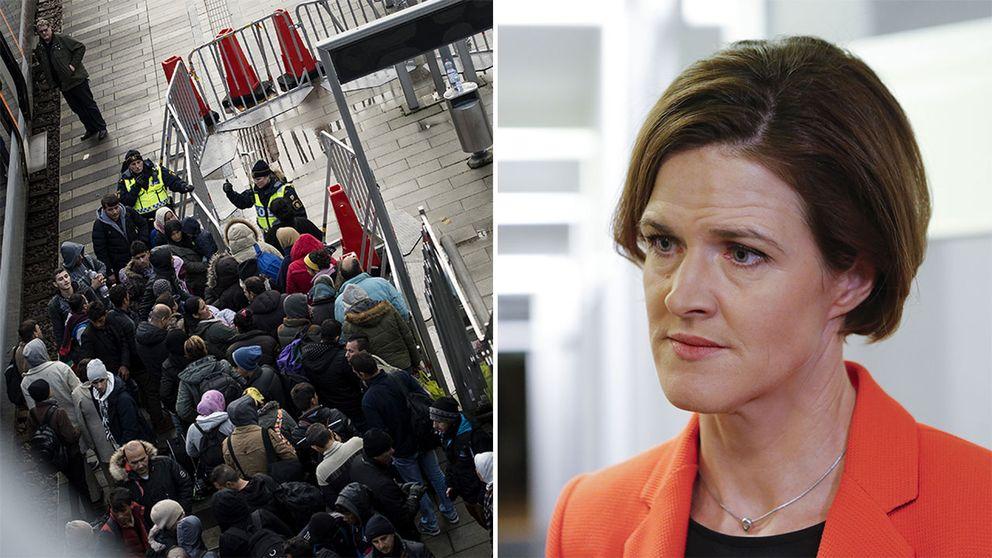 Flyktingar på Hyllie station och Anna Kinberg-Batra (M)