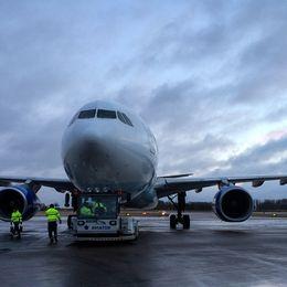 Airbus 332 på Kalmar flygplats.