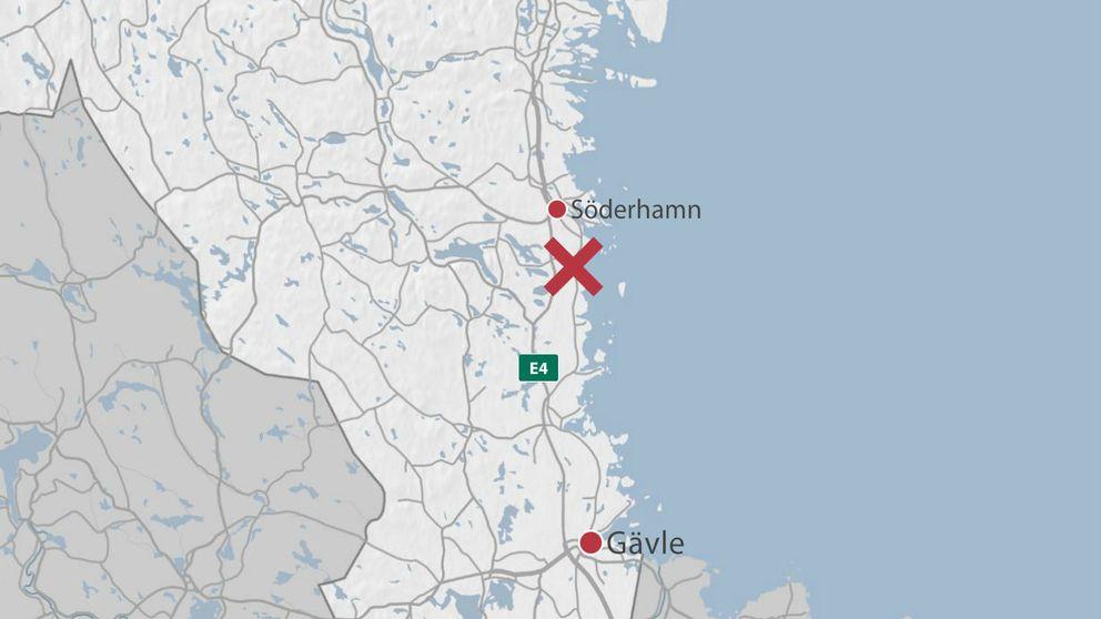 Grovt våldsbrott utanför Söderhamn