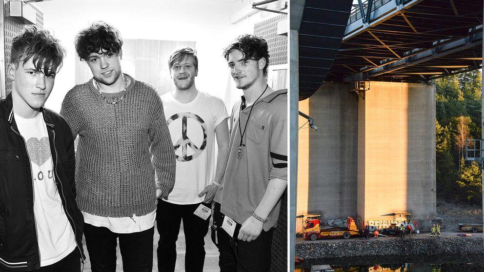 Det brittiska popbandet Viola Beach omkom i olyckan i Södertälje