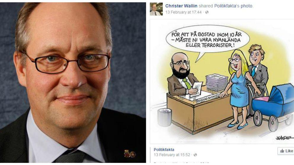 Moderat politiker anklagad för att spridit rasistisk bild