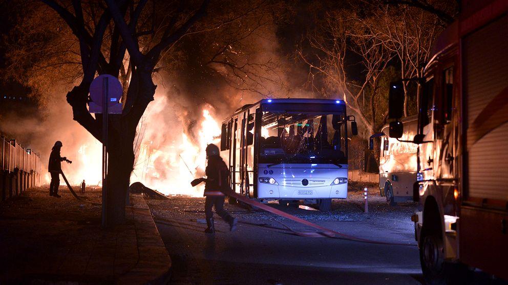Explosionen i Ankara.