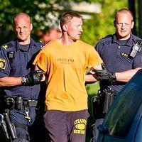Lisa Holms mördare, Nerijus Bilevicius, grips av polisen.