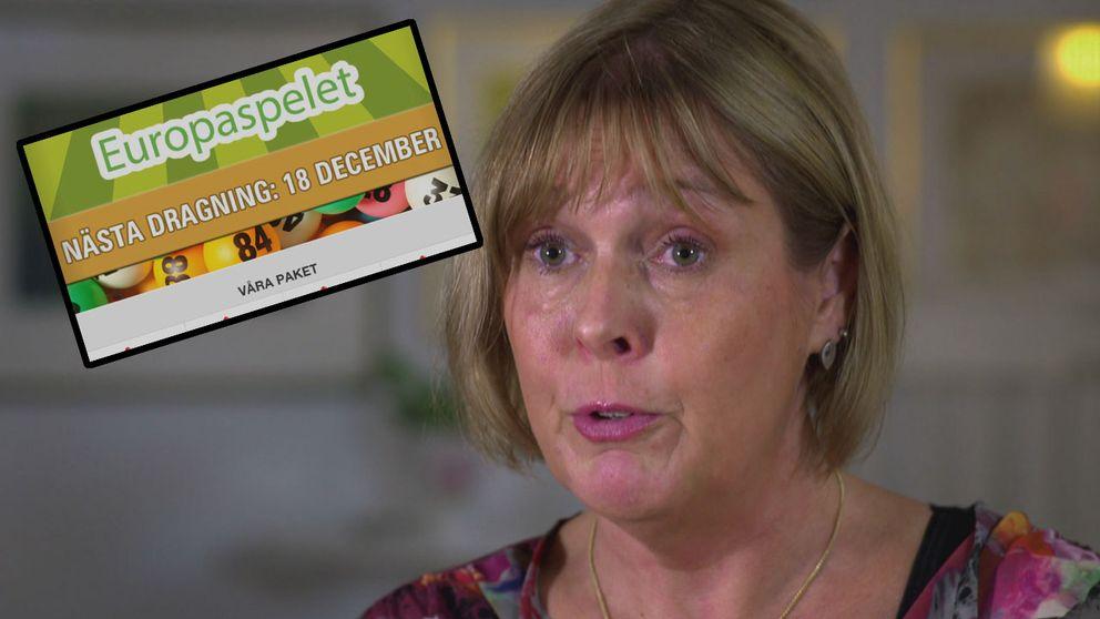 Eva Wendt från Vittsjö är en av många som känner sig lurade av Europaspelet.