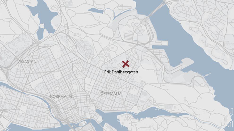 Karta över Stockholms innerstad