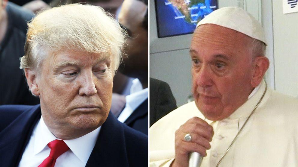 Påve Franciskus ger sig in i debatten om presidentkandidaten Donald Trump.