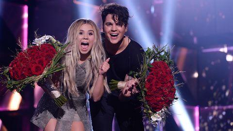 Lisa Ajax och Oscar Zia är i final i Melodifestivalen 2016.