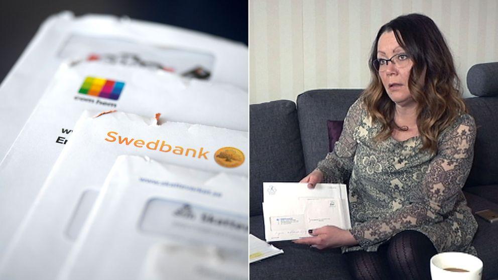 På många håll i landet är problemen med postutdelningen stor, vilket slår hårtmot privatkunder när brev försvinner och försenas. En av de drabbade är Kerstin Häggkvist från Nyköping.