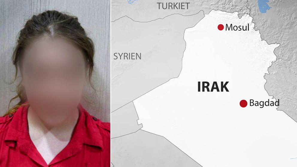 Den 16-åriga flickan fritogs av kurdiska styrkor i norra Irak.