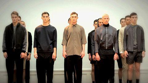 Manliga modeller i programmet Modellpojkar.