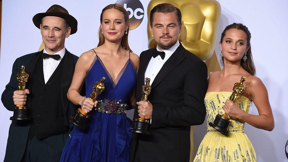 Mark Rylance, Brie Larson, Leonardo DiCaprio och Alicia Vikander prisades alla för sina skådisinsatser.
