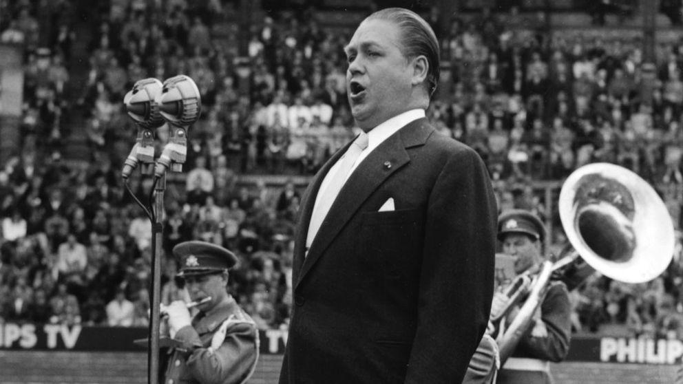 Jussi Björling vid invigningen av friidrotts-EM i Stockholm 1958.