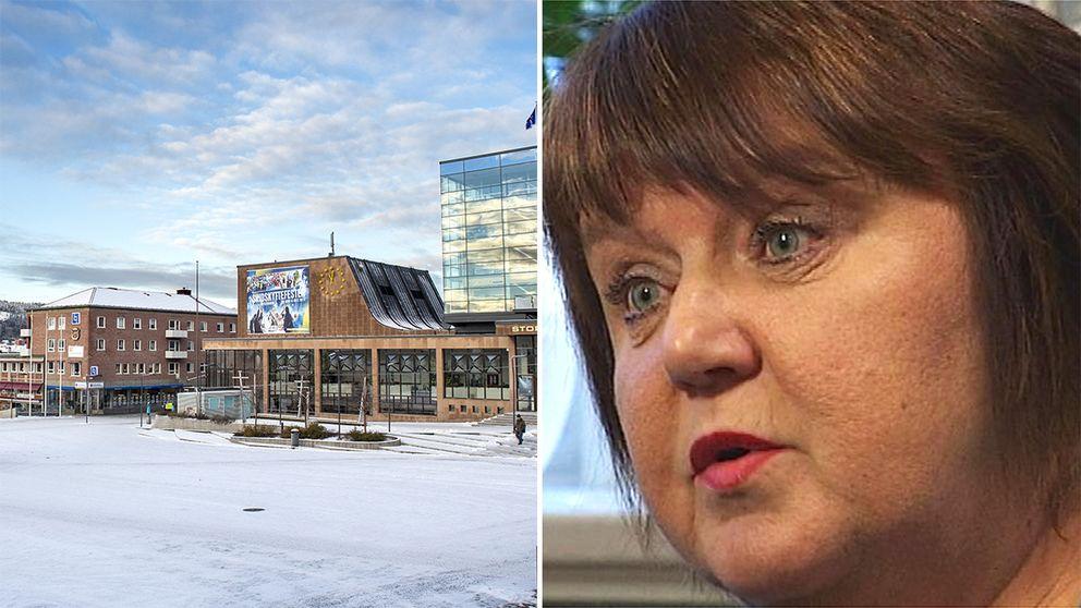 Torget i Östersund och kommunalrådet AnnSofie Andersson.