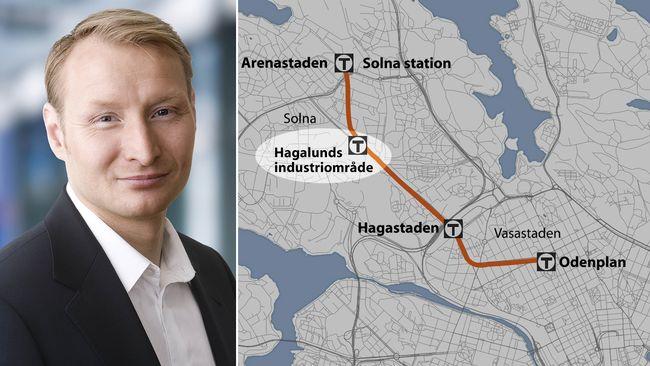 Hagalund kan fa egen t banestation