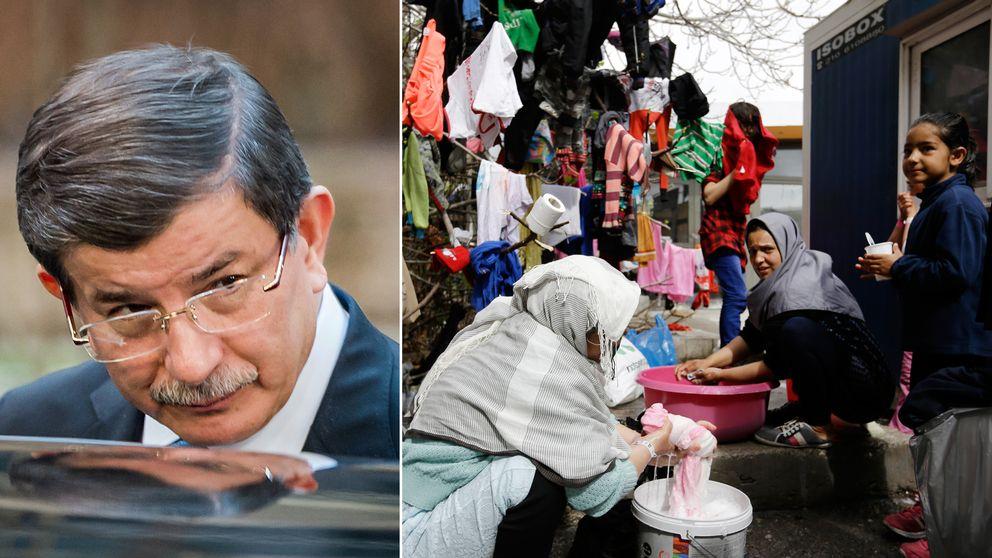 Turkiets premiärminister Ahmet Davutoglu är en av nyckelspelarna i de förhandlingar som Turkiet för med EU om att försöka hitta en lösning på flyktingkrisen.
