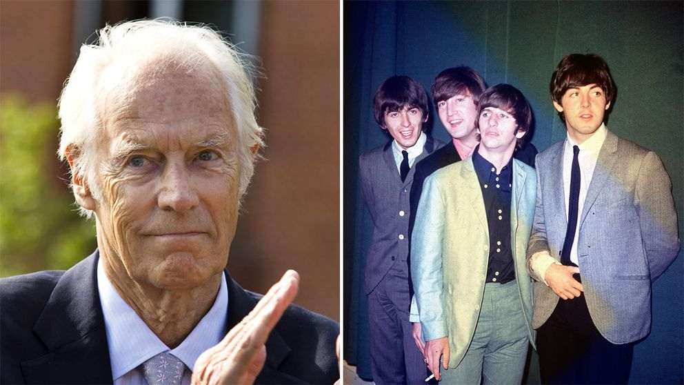 Musikproducenten George Martin och The Beatles.