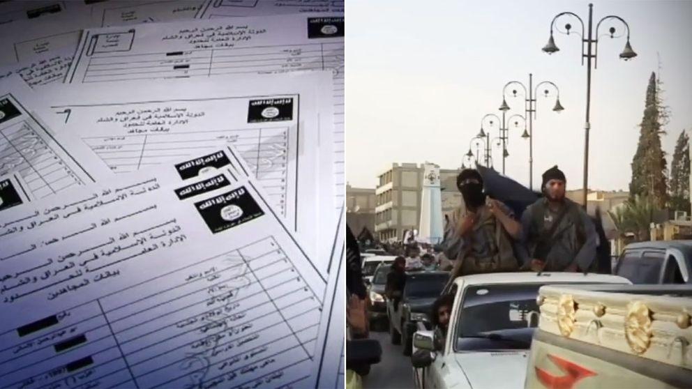 """Registret på 22.000, många hittills okända, IS-krigare beskrivs av en underrättelseagent som """"en guldgruva""""."""