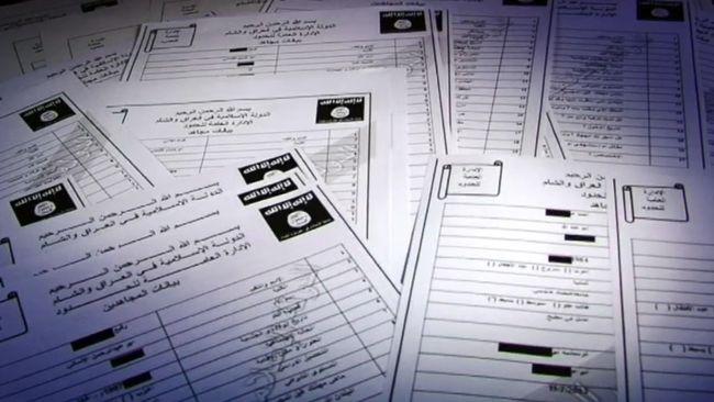 Dokument som läckt från terrororganisationen Islamiska staten.