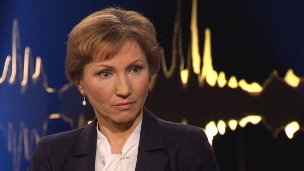 """Marina Litvinenko gäst i """"Skavlan""""."""