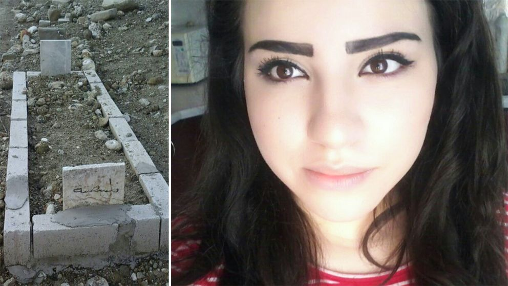 Raghad Abboud och hennes grav vid gränsen mellan Syrien och Turkiet.