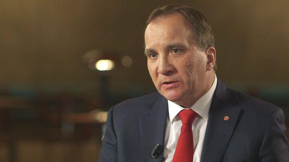 Statsmister Stefan Löfven i SVT:s Agenda.