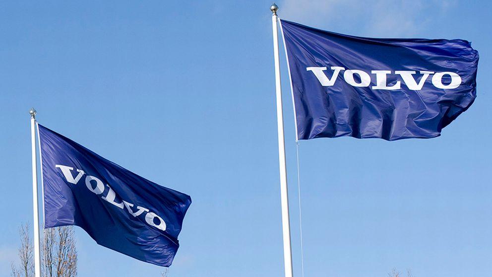 Volvo logga flaggor