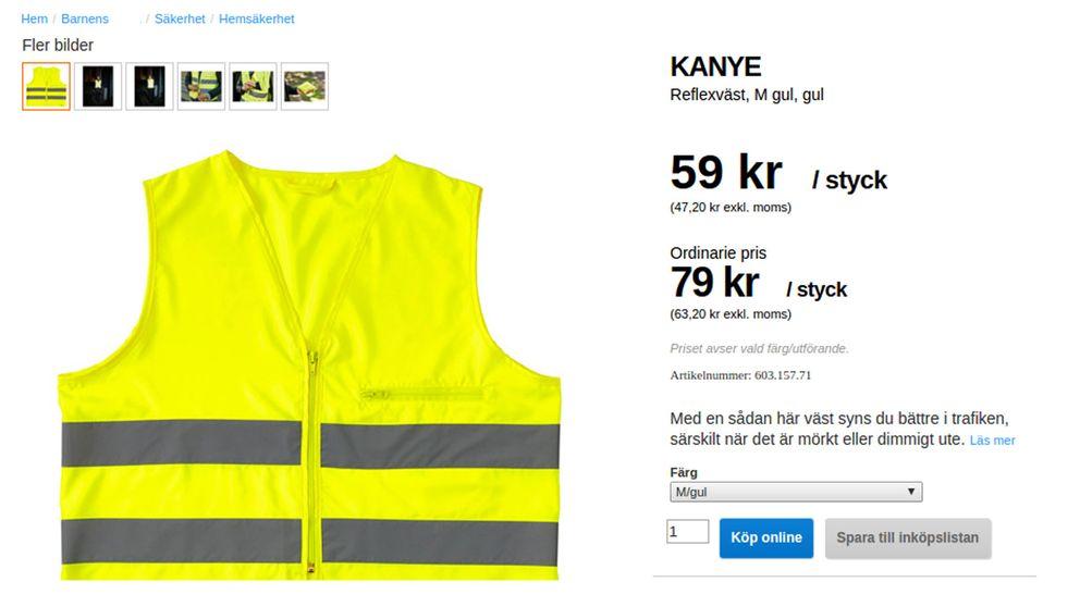 "Ett av de bildmontage som gjorts kring Kanyes ""kollektion""."