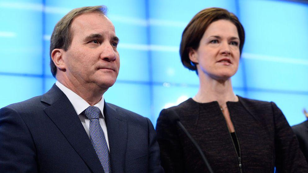 Stefan Lövfen och Anna Kinberg Batra