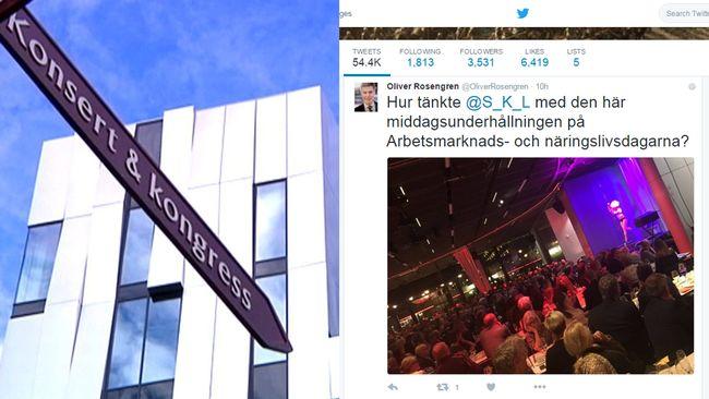 SKL bjöd på pole dance-show i Uppsala.