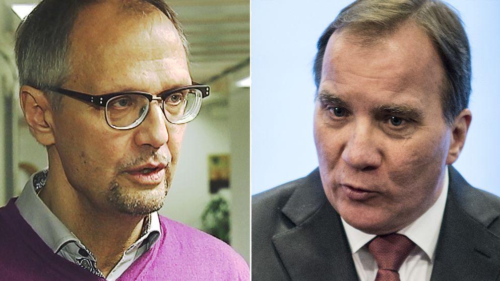 Ulf Bjereld (S), Tro och solidaritet, är den enda representant från någon av grupperna som skrev debattartikeln i DN som i dag vill utveckla kritiken mot partiledningen och statsminister Stefan Löfven.