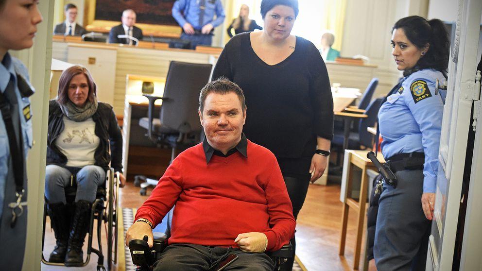 Andreas Thörn under dagens förhandling i Svea hovrätt.