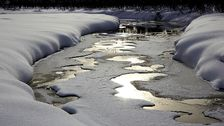 Strålande vackert vårvinterväder i norra Tornedalen den 14 mars.