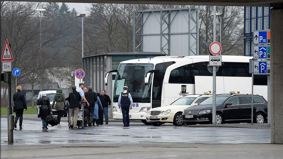 Flyktingarna anländer till Hannover
