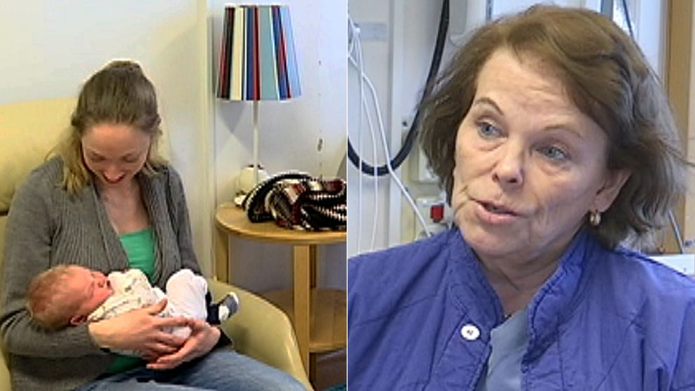 Eva Wiberg Itzel på Södersjukhusets förlossningsavdelning.