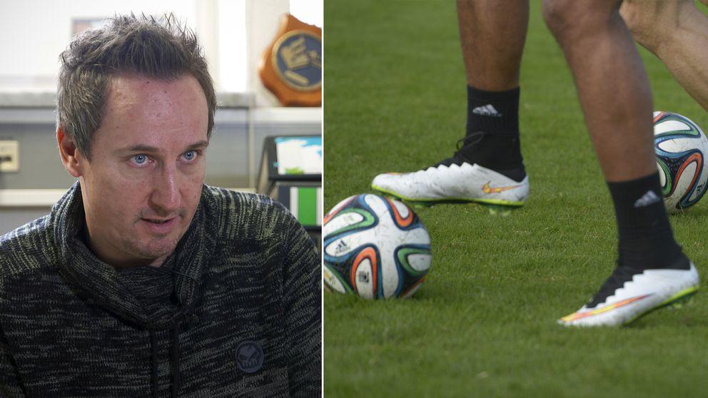 Kriminalkommisarien Michael Bahr och en bild på en fotboll.