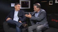 Netflix innehållschef Ted Sarandos och vd Reed Hastings.