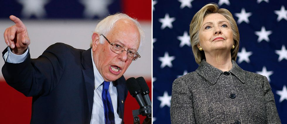 Bernie Sanders och Hillary Clinton.