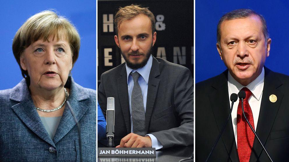 Förbundskansler Angela Merkel tillåter att president Erdogan och Turkiet stämmer komikern Jan Böhmermann för förolämpning.