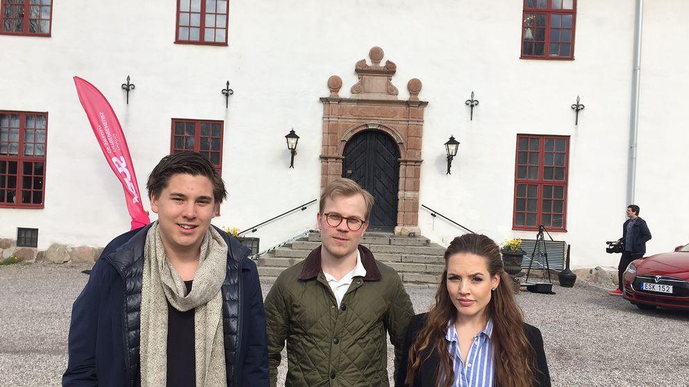Dan Lainio och Malte Jansson från Eskilstuna och Tilda Forsgren från Katrineholm är några av entreprenörer på årskongressen som drar igång på Sundbyholms slott idag.